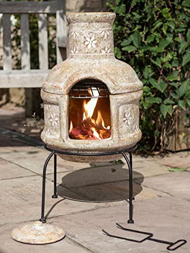 Clay Chiminea Barbecue 67030: Amazon.co.uk: Garden & Outdoors