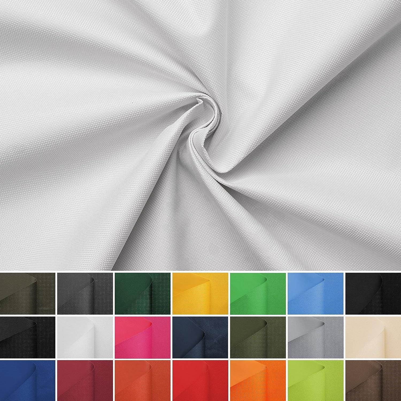 Carry - Lona de tela impermeable - 100% poliéster - 21 colores - Por metro (blanco): Amazon.es: Hogar