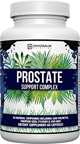 Complete Natural Prostate Health Supplement – Men s Prostate Support Formula with Saw Palmetto, Beta-sitosterol, Medicinal Mushrooms – Potential DHT Blocker Helps Promote Testosterone