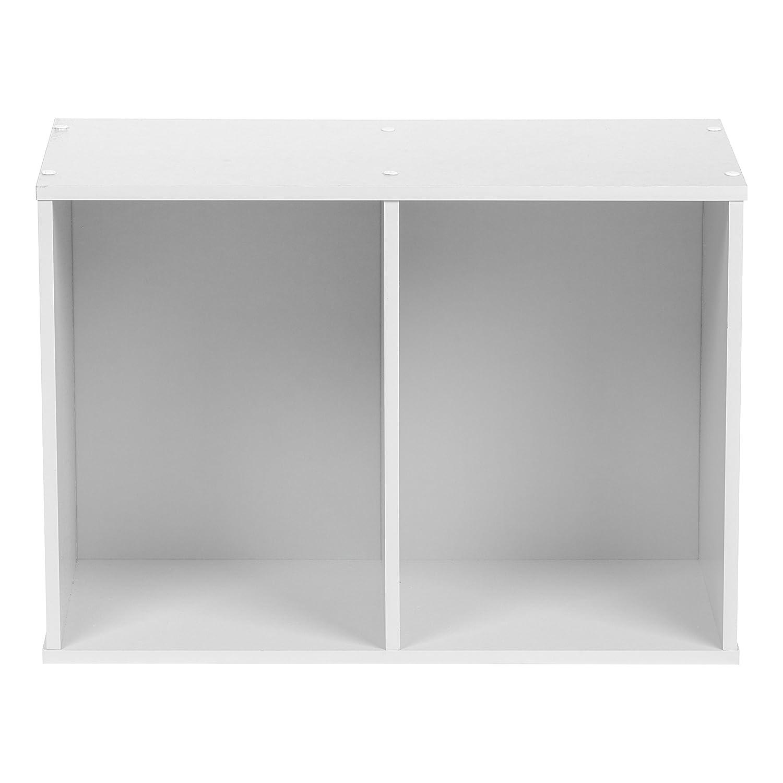 IRIS USA 596166 2-Tier Wood Storage Shelf, White