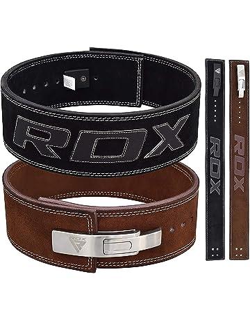 RDX Gym Sollevamento Pesi Fibbia a Leva Cintura Powerlifting Pelle Bovina  Pelle Fitness Esercizio Bodybuilding 7920d7d3175