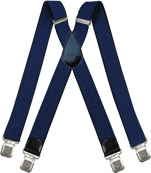d3a47bc44 Tirantes Hombre X-Forma Elásticos Ancho 40 mm con clips extra fuerte  totalmente adjustable todos