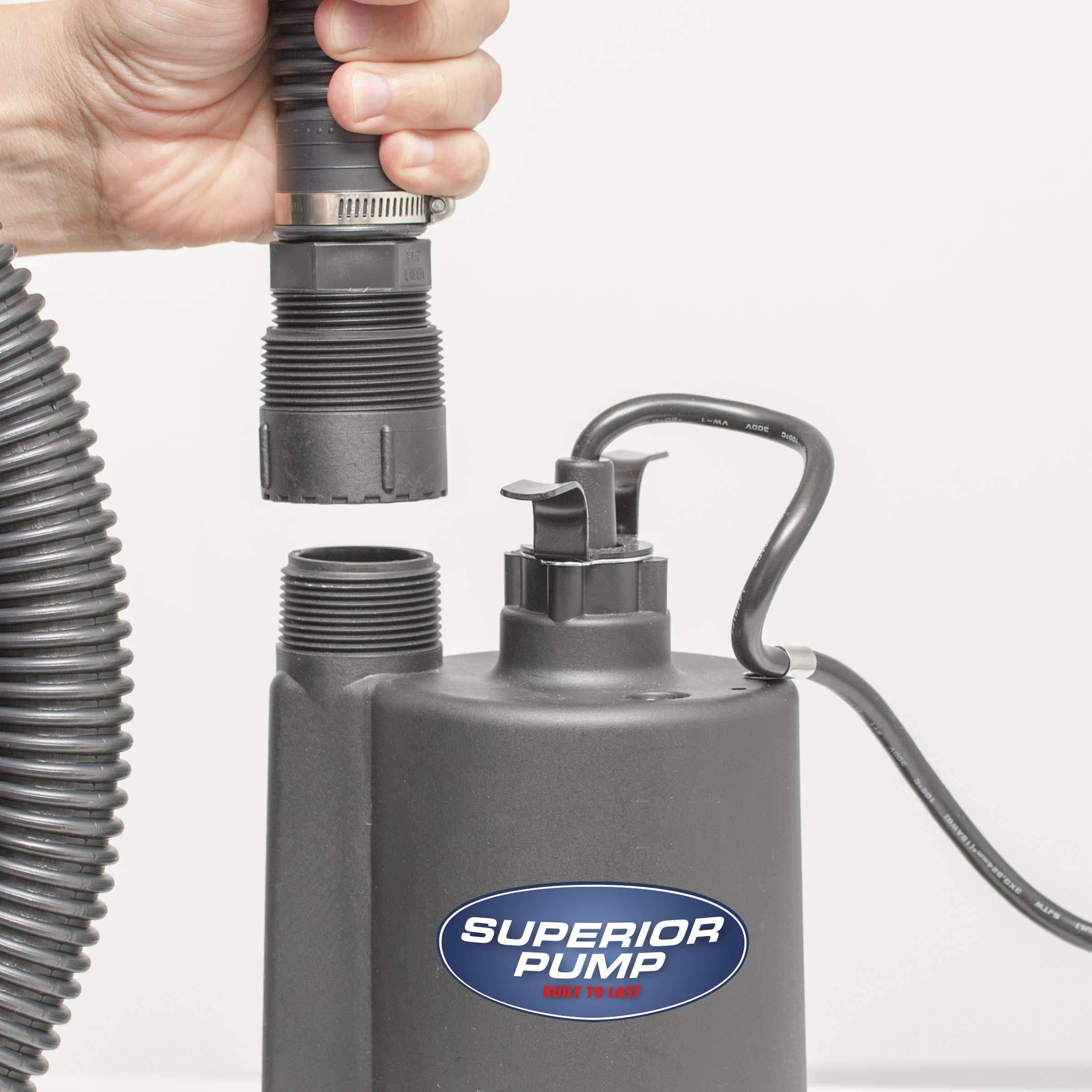 Superior Pump 91025 1/5 HP Thermoplastic Submersible Utility Pump with 10-Foot Cord by Superior Pump (Image #3)
