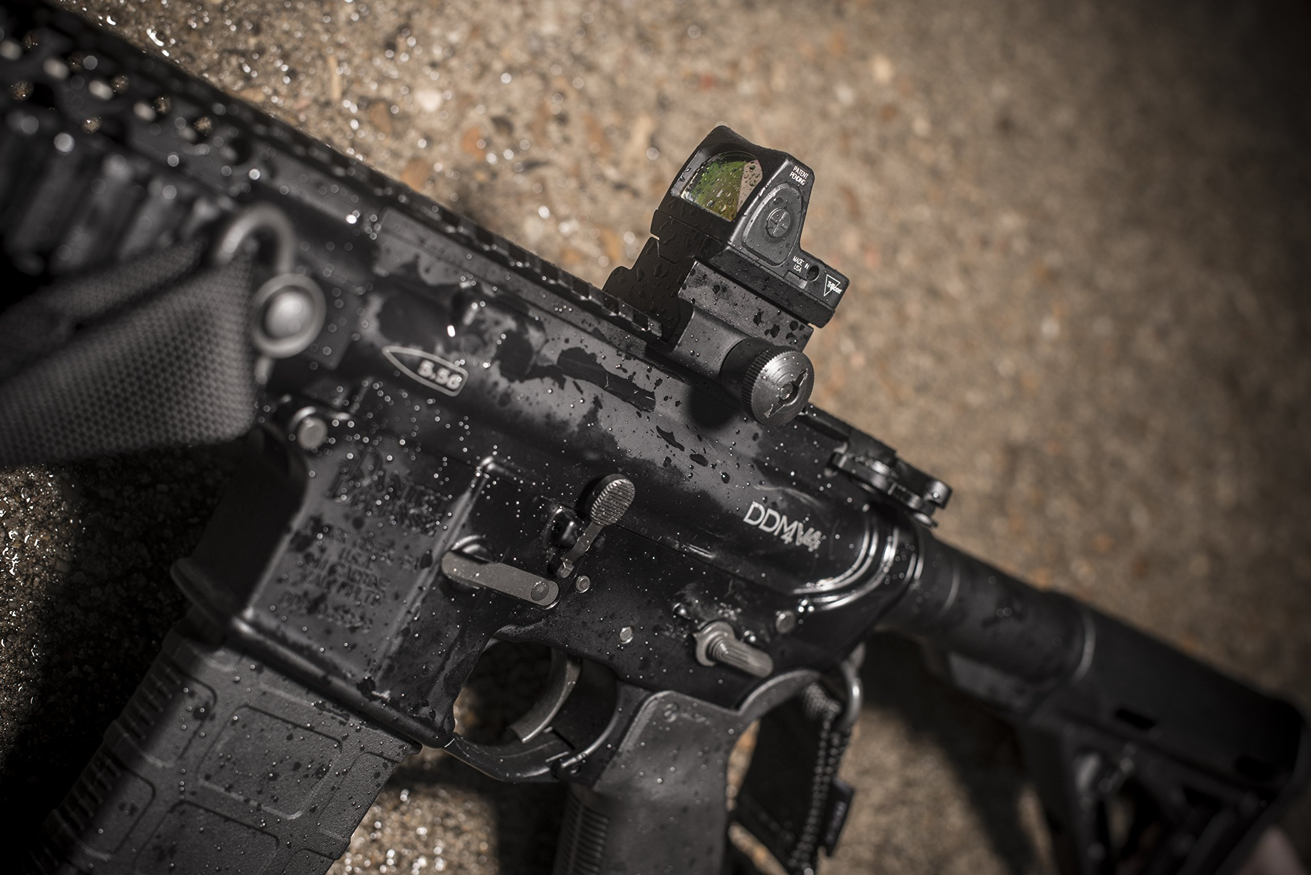 Trijicon RM04-35 RMR 7 MOA Dual-Illuminated Amber Dot Sight with RM35 Full Size ACOG Mount with Bosses by Trijicon (Image #8)