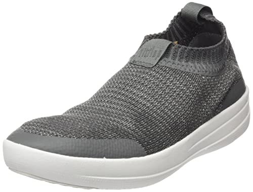 Uberknit Slip-On High Top Sneaker, Zapatillas Altas para Mujer, Multicolour (Black/Bronze Metallic), 37.5 EU FitFlop