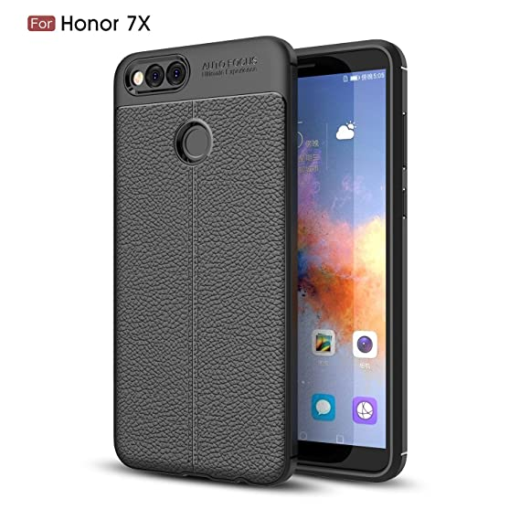 new style 04e09 56cfb HONOR 7X CASE, HUAWEI HONOR 7X CASE, Torryka SLEEK Premium TPU [Leather  Texture Design] Slim Fit Flexible Shock Absorbent Drop Protection  Protective ...