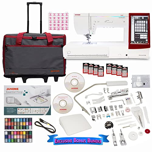 Janome Memory 14000 Sewing and Embroidery Machine with Exclusive Bundle