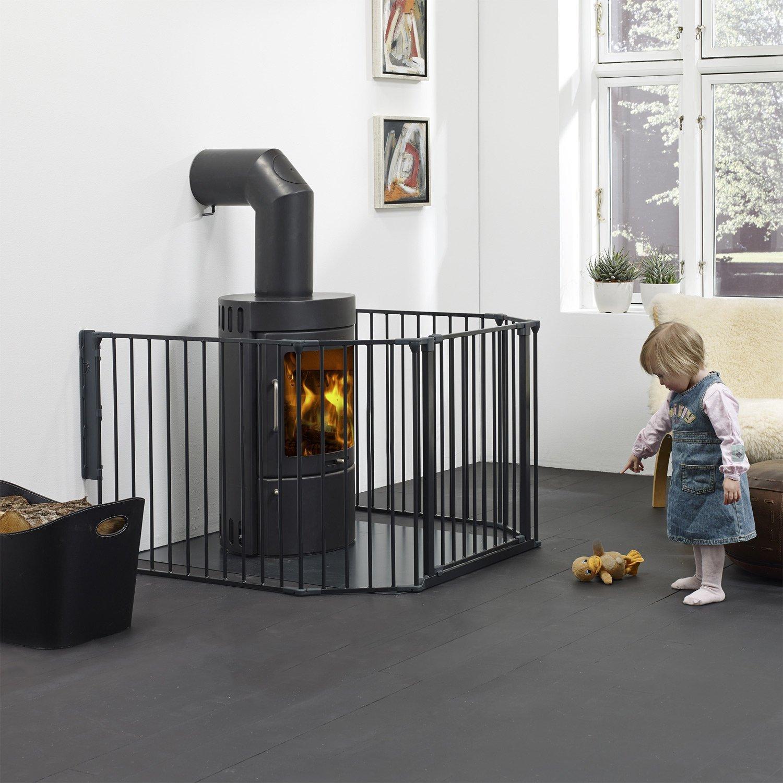 BabyDan FLEX XL Kaminschutzgitter schwarz