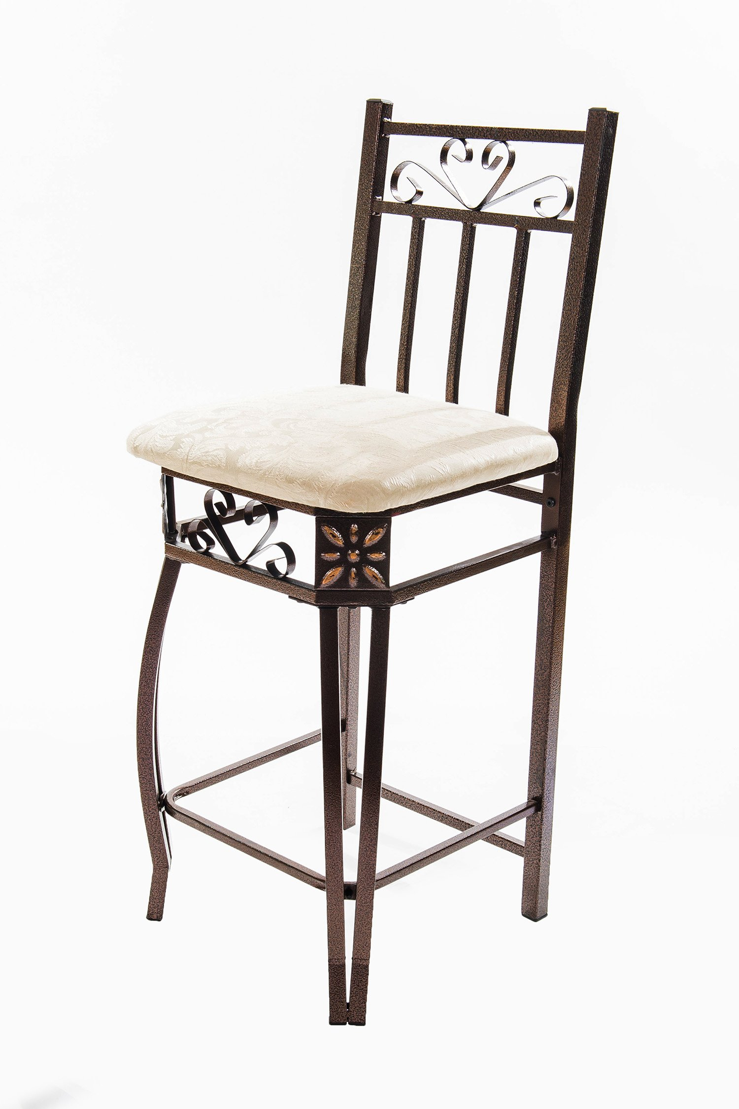 Home Source Industries Barcelona Bronze Metal Counter Bistro Set with Light Wood Table Top and 2 Chairs by Home Source Industries (Image #4)