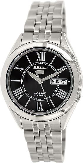 Seiko SNKL33 - Reloj analógico automático para Hombre, Correa de Acero Inoxidable Color Plateado (