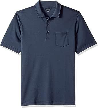 Amazon Essentials Men's Regular-Fit Pocket Jersey Polo