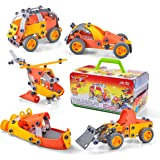 JOYIN 148 Pieces Take-a-Part Play-Set, Educational Construction Engineering Toy Set Up-to 5 Models Toy