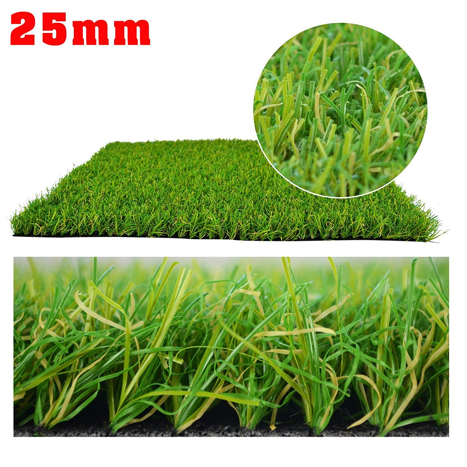 25mm Meadow Creek Artificial Grass High Quality Cheap Realistic Natural Astro Green Fake Lawn Garden 2X1 Belgium