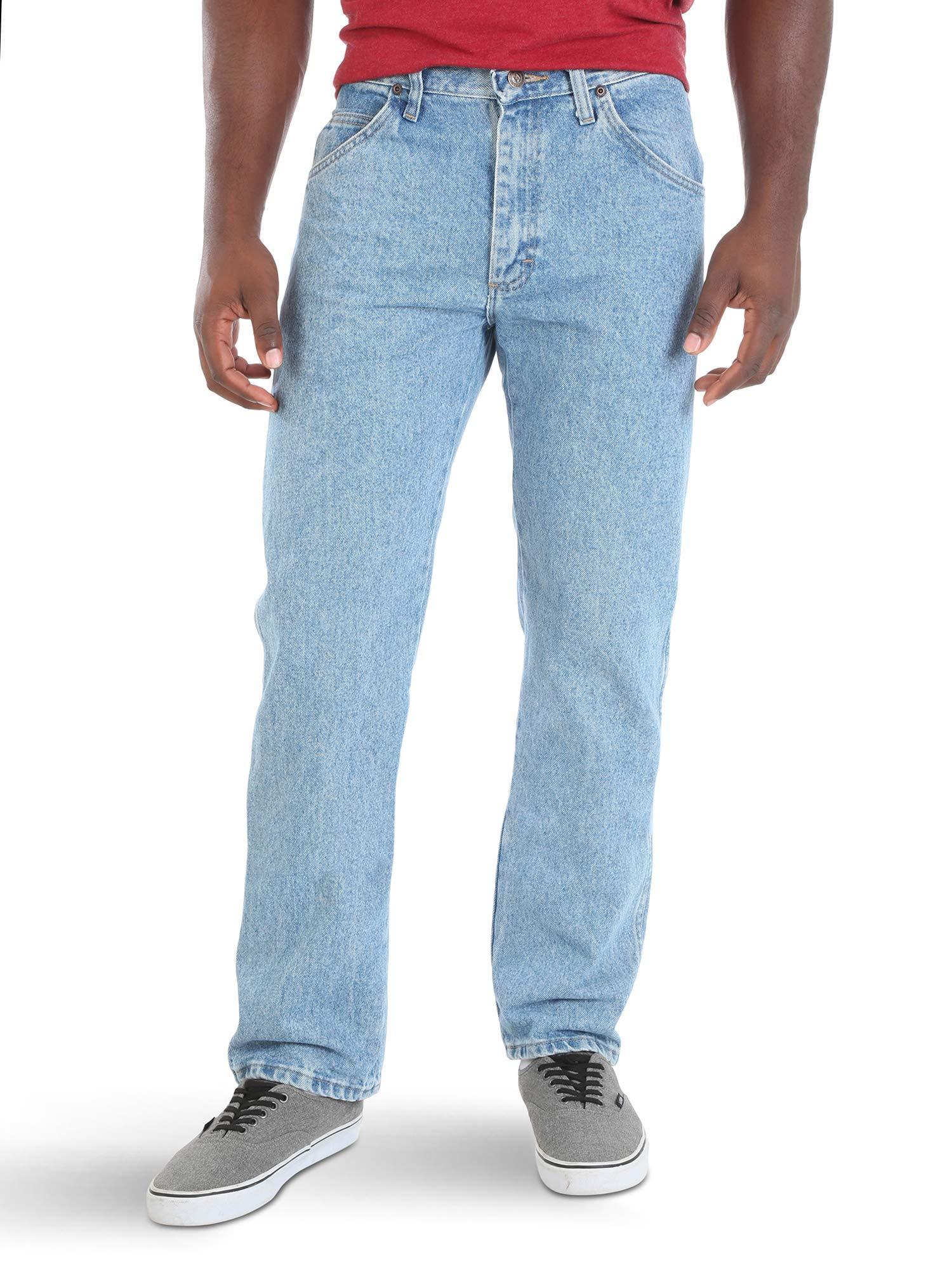Wrangler Authentics Men's Classic 5-Pocket Regular Fit Jean,Light Stonewash,34x28