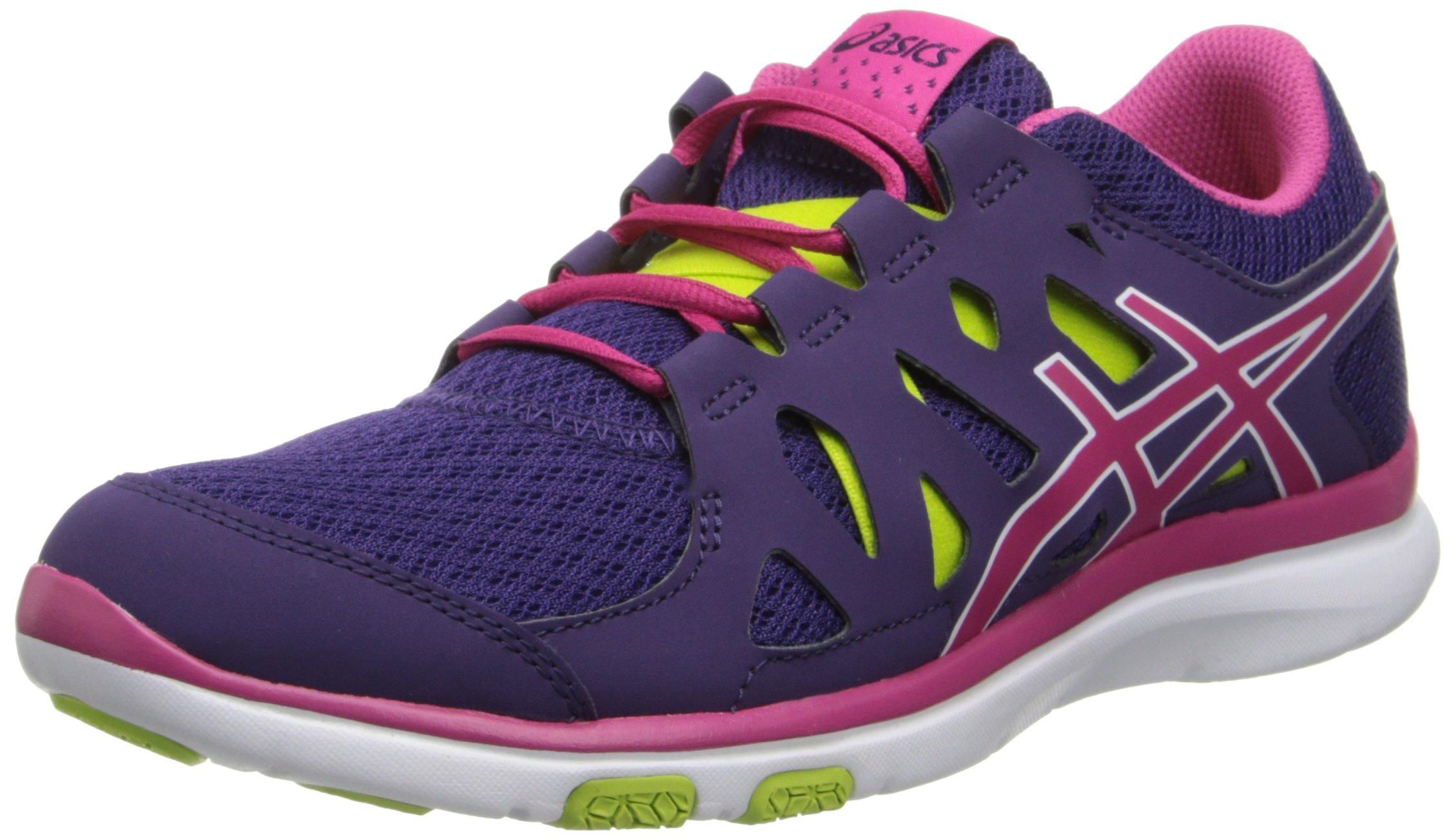 ASICS Women's Gel Fit Tempo Cross-Training Shoe,Purple/Hot Pink/Lime,11.5 M US