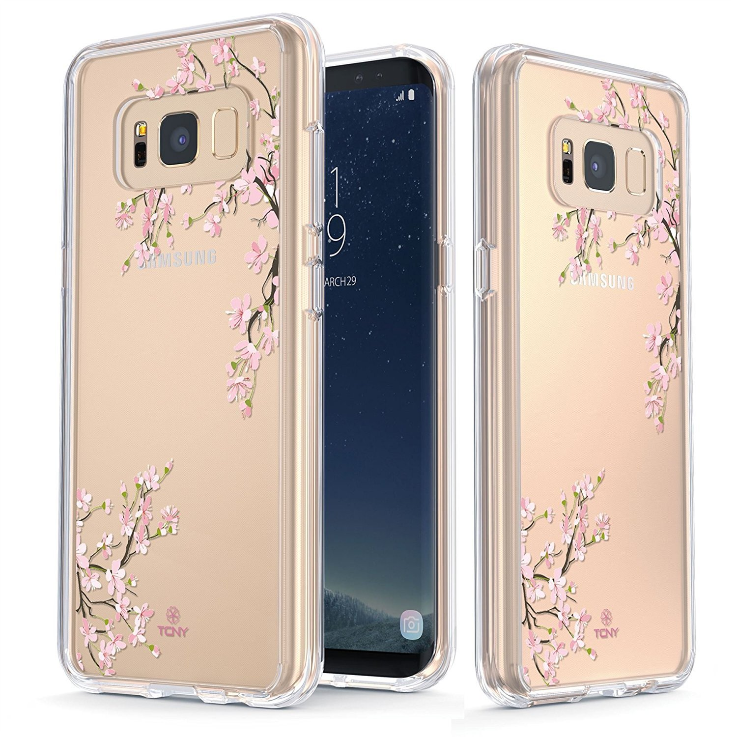 Designer Cases For S8 Plus Goospery Samsung Galaxy Canvas Diary Case Navy True Color Compatible With Clear Shield Cherry Blossom