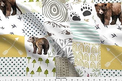df981ccbf90 Amazon.com: Spoonflower Woodland Fabric - Woodland Baby Boy ...