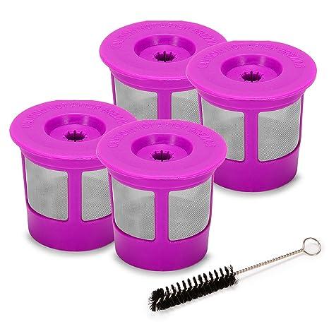 Amazon.com: 4 reutilizable K-Cups by styddi, acero ...