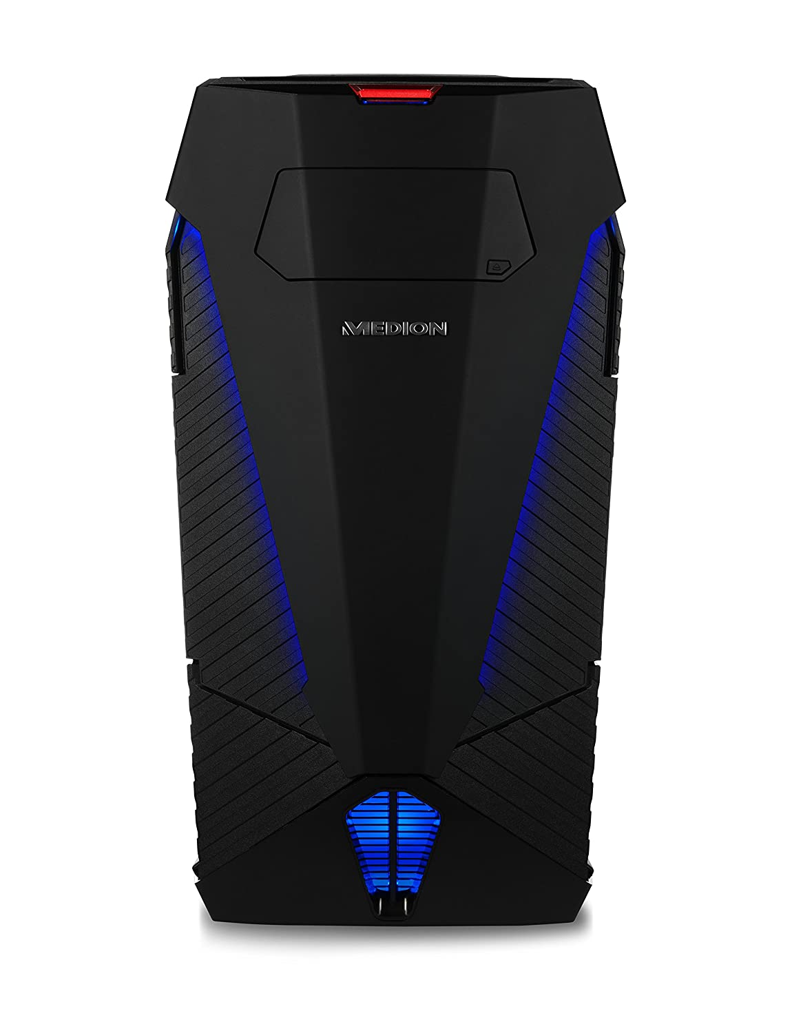 Medion Erazer - Ordenador de sobremesa Gaming (Intel Core i7-8700, 16 GB RAM, 256 GB SSD, 2 TB HDD, Nvidia GeForce GTX 1080 de 8 GB, Windows 10 Home), Color Negro