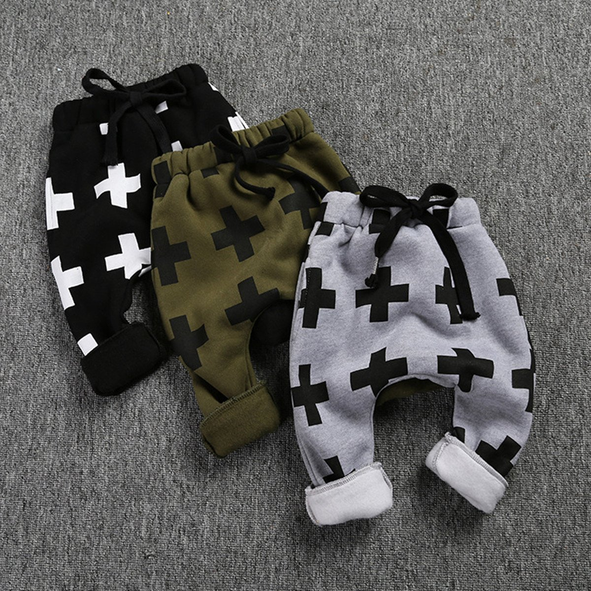 ZIYOYOR Kids Boys Cross Pattern Harem Pants Casual Sweatpants Baggy