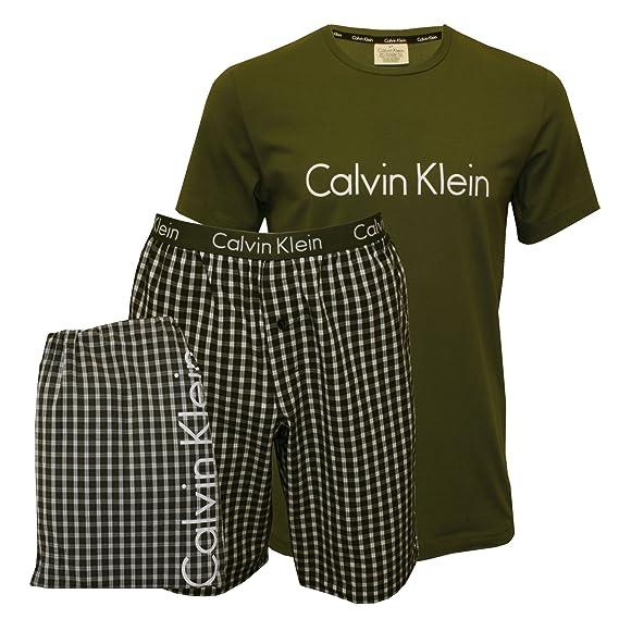 Calvin Klein Conjuntos de Pijama para Hombre, (Hunter Top/Ross Check Hunte), X-Large: Amazon.es: Ropa y accesorios