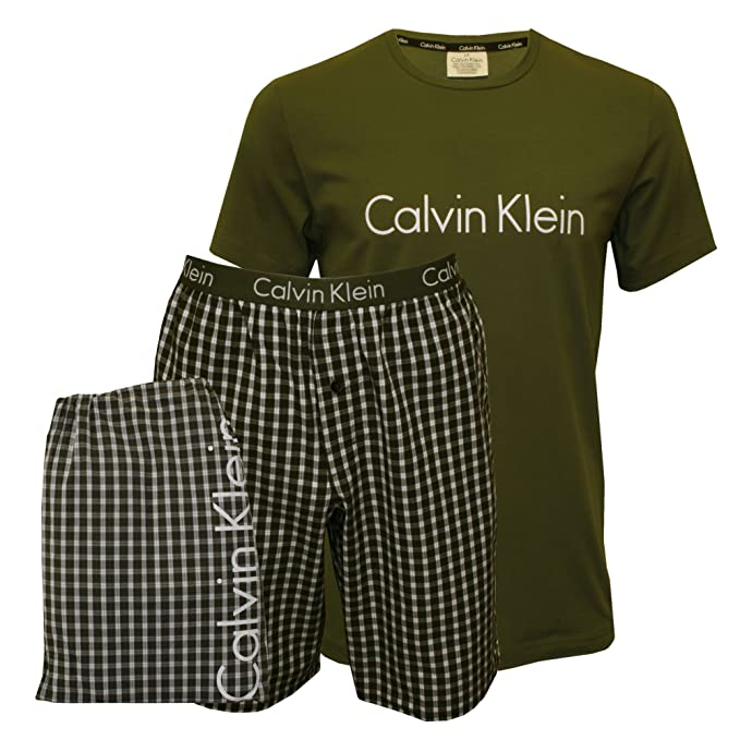 Calvin Klein Conjuntos de Pijama para Hombre, (Hunter Top/Ross Check Hunte)