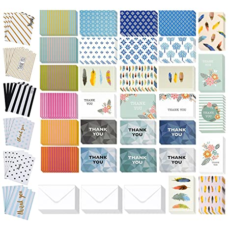 Amazon 144 pack thank you cards thank you greeting cards bulk 144 pack thank you cards thank you greeting cards bulk box set thank you m4hsunfo