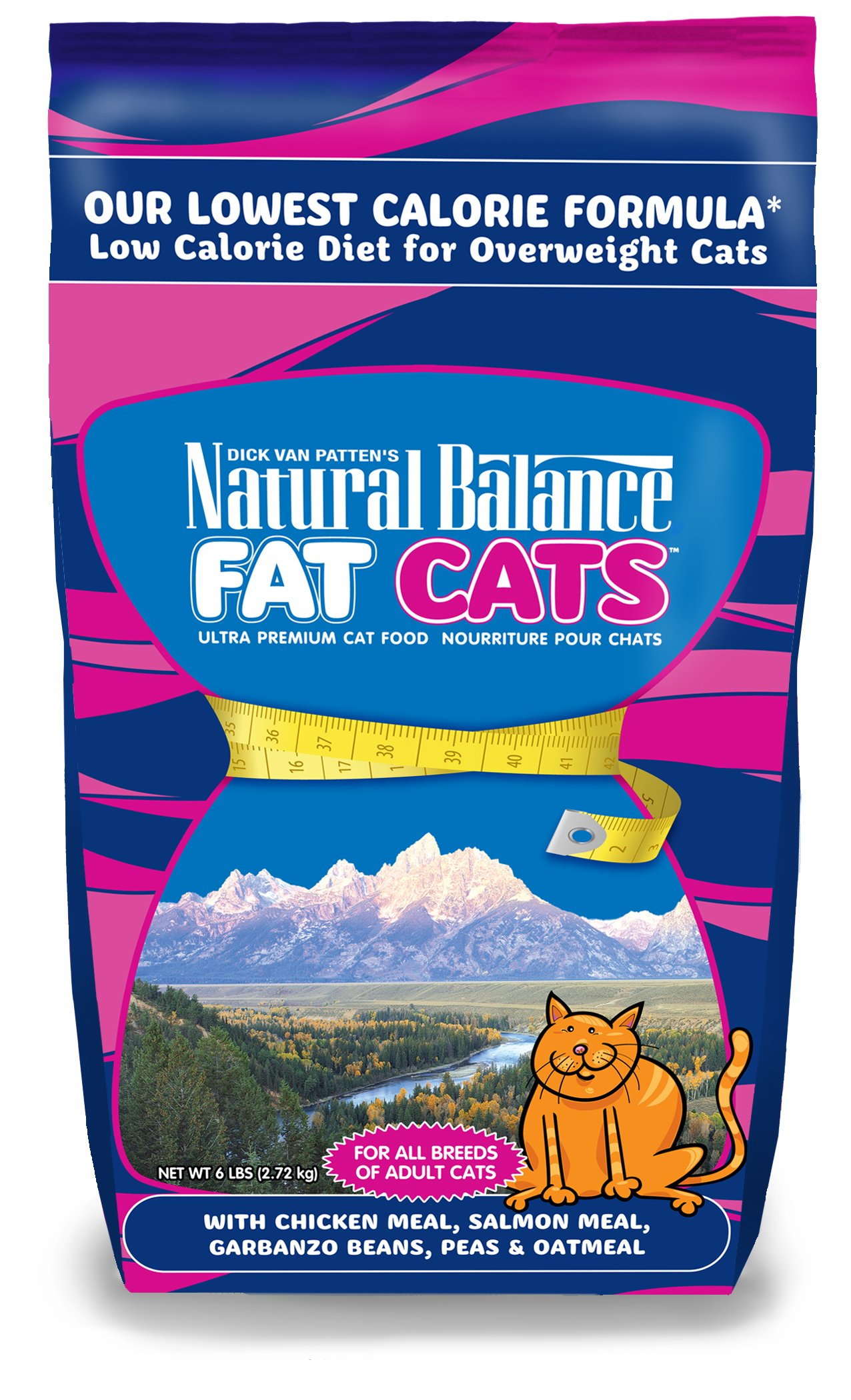 NATURAL BALANCE 236037 6-Pack Fat Cats Low Calorie Dry Cat Food, 6-Pound