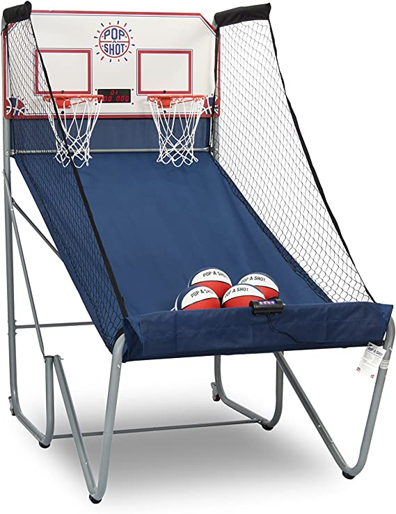 Pop A Shot Official Home Dual Shot Basketball Arcade Game 16 Different Games 6 Audio Options Near 100 Scoring Accuracy Multiple Height Settings Large Led Scoreboard Sports Outdoors