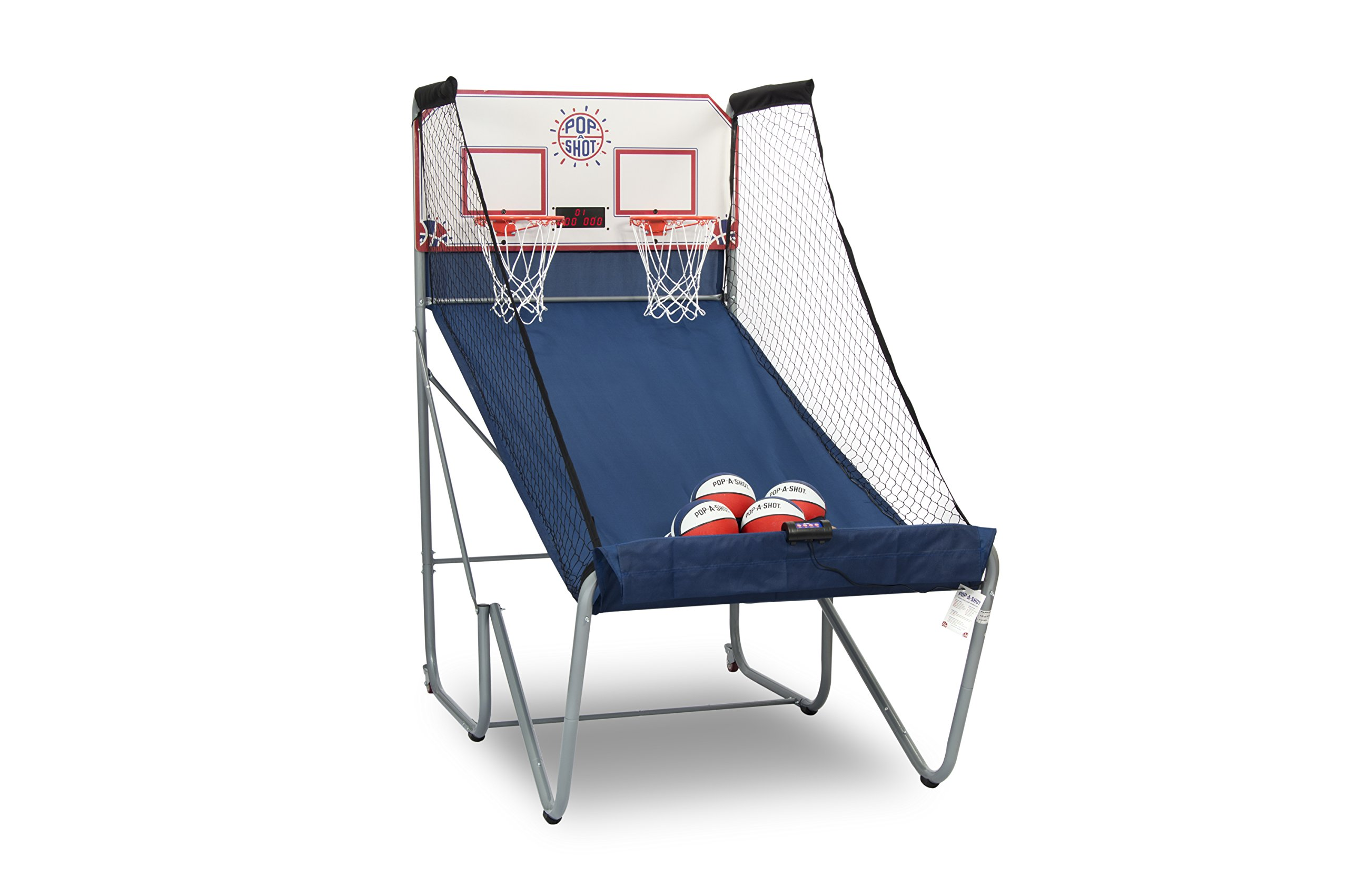 Pop-A-Shot New Official Home Dual Shot Basketball Arcade Game - 16 Individual Games - Durable Construction - Near 100% Scoring Accuracy - Multiple Height Settings - Large LED Scoring System by Pop-A-Shot