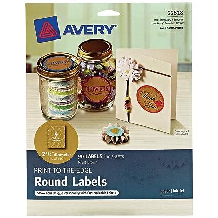 Avery (22818) - Etiquetas redondas para impresoras láser y de ...