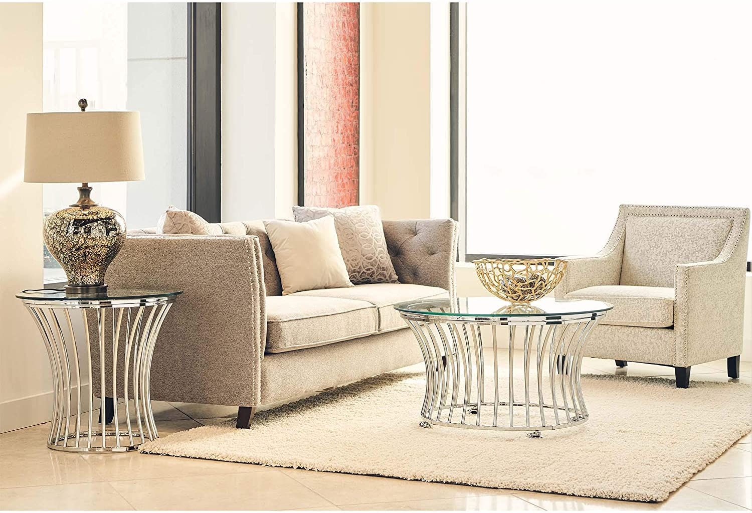 Picket House Furnishings Astoria 2PC Occasional Table Set-Coffee Table /& End Table