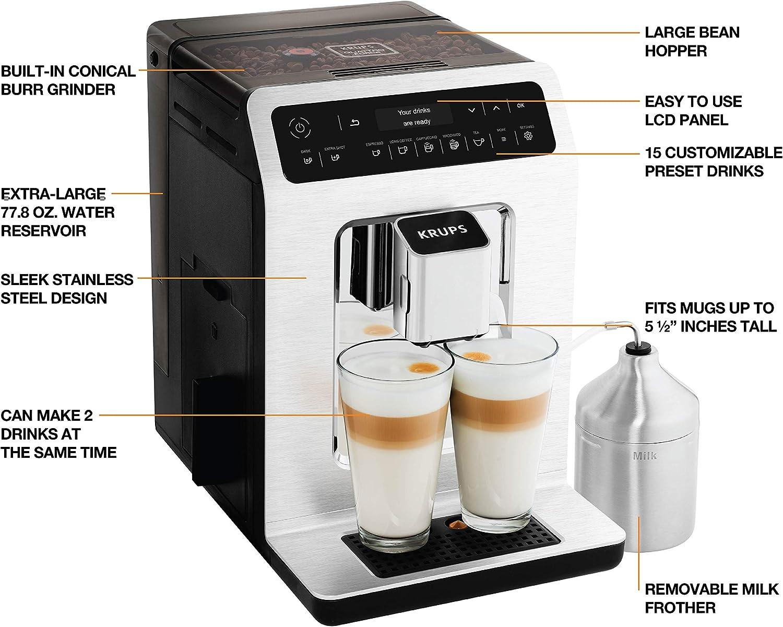 Amazon.com: KRUPS EA89 Deluxe One-Touch Super Máquina de ...