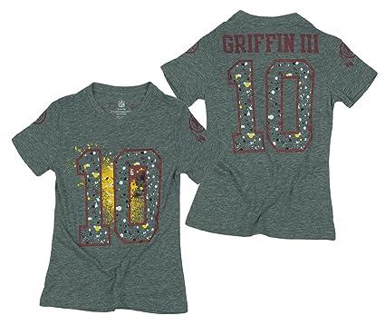 c0e9a5105 Outerstuff Washington Redskins NFL Big Girls Robert Griffin III Short  Sleeve Splatter Shirt - Gray (