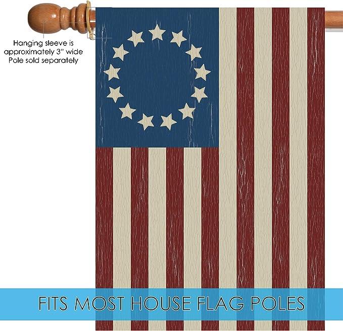 Amazon.com: Toland Home Garden 101350 Betsy Ross Bandera de ...