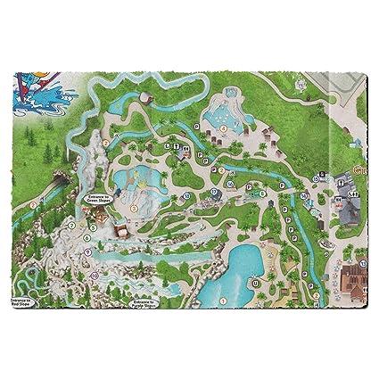 Amazon Com Blizzard Beach Map Door Mat Large Door Mat Indoor