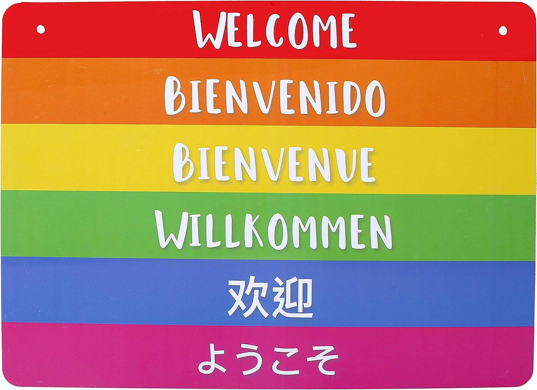 Amazon.com: Dat Sign - Señal de bienvenida Gay Friendly para ...