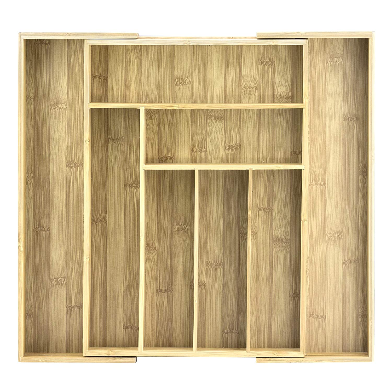 Accessoires Unbekannt Totally Bamboo BA202043 Besteckkasten ausziehbar 46 x 32 cm