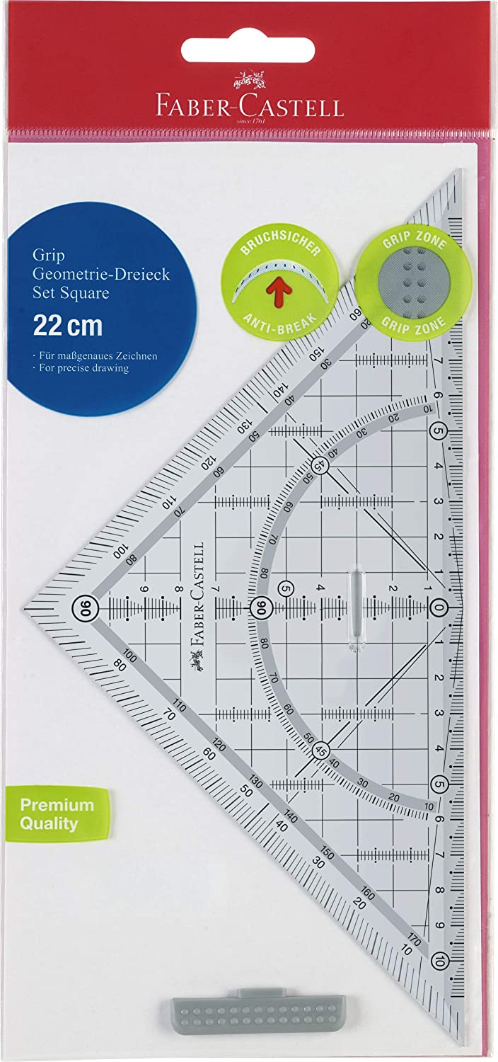 Faber-Castell Grip 171010 geometry Triangle with Grip 22 CM
