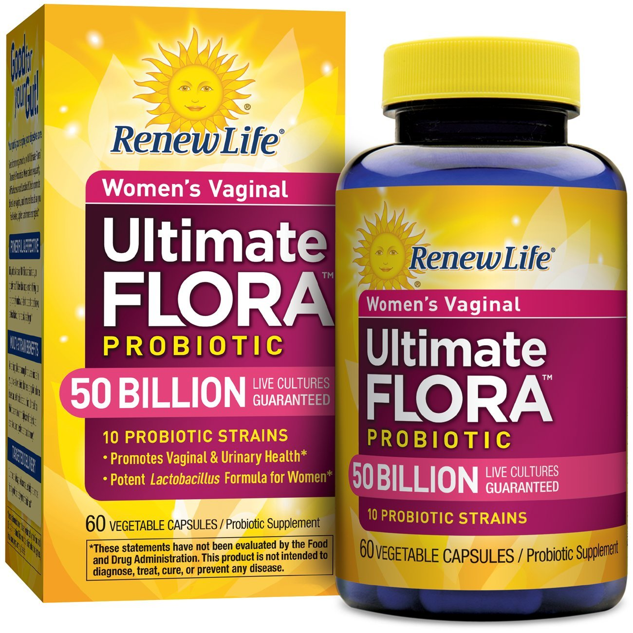 Renew Life - Ultimate Flora Probiotic Women's Care - 50 billion - 60 vegetable capsules