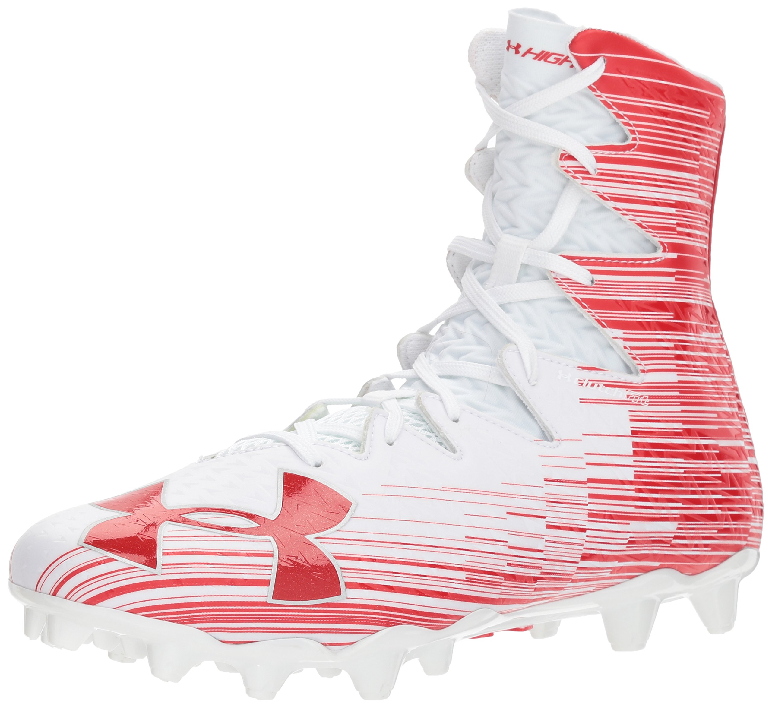 Under Armour Men's Highlight M.C. Lacrosse Shoe, White (161)/Red, 16 by Under Armour