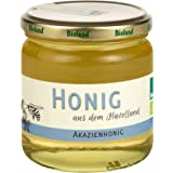 Bioland Akazienhonig, mild, flüssig, klar, Bio Honig aus dem Havelland (500g), ideal für den Tee oder die Küche, ungefiltert, unbehandelt, naturbelassen