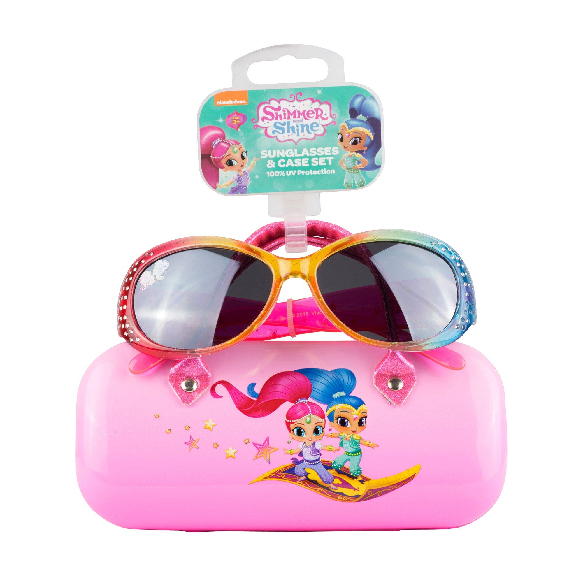 Shimmer & Shine Sunglasses &Hard shell Carrying Case Set for Girls - 100% UV Protection for Kids