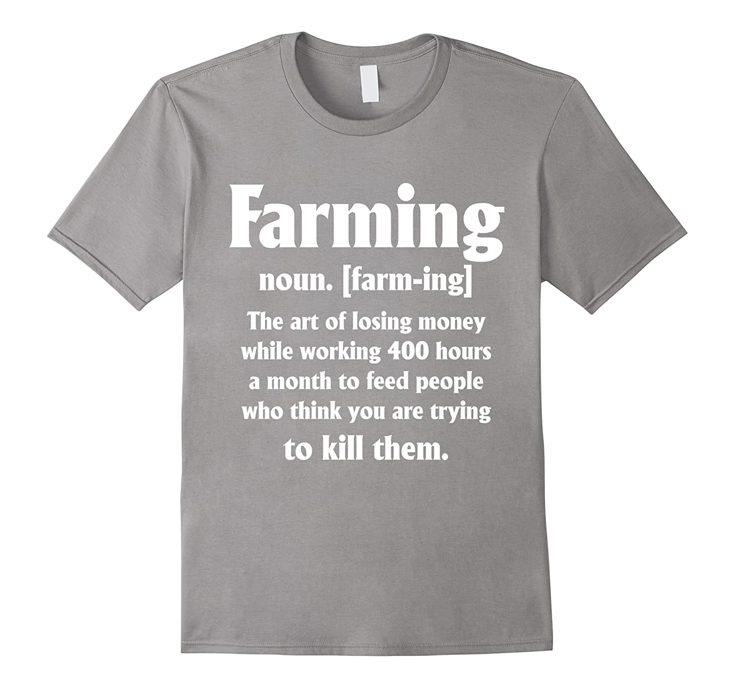 farming t-shirt funny noun [farm-ing] tee-TH