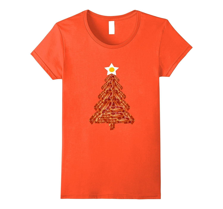 Bacon Christmas Tree T-shirt Breakfast Holiday Egg Star