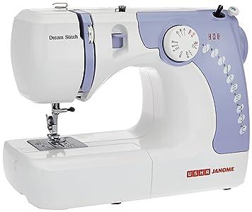 Usha Janome Dream Stitch Automatic Zig-Zag Electric Sewing Machine (White...