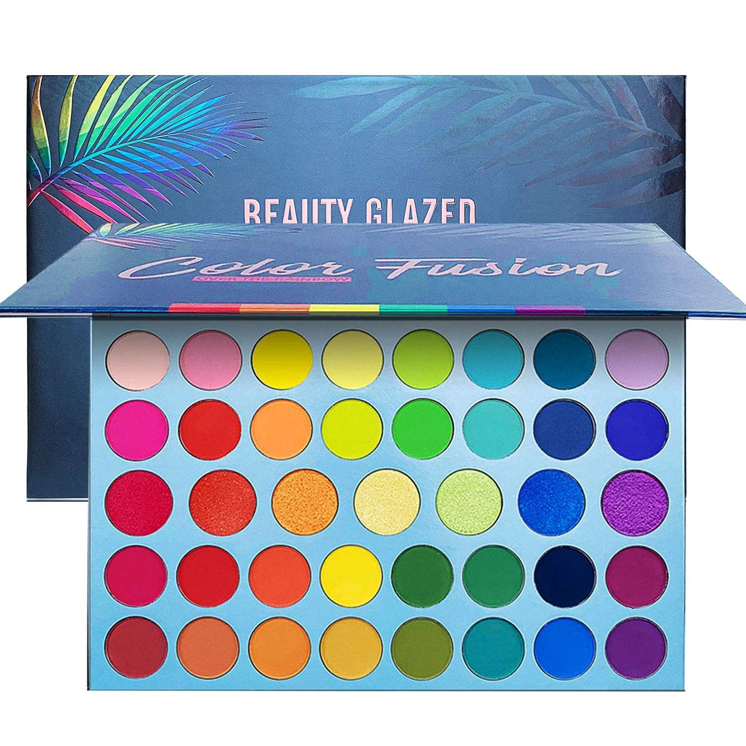39 Color Rainbow Eyeshadow Palette – Professional Makeup Matte Metallic Shimmer Eye Shadow Palettes – Ultra Pigmented Powder Bright Vibrant Colors Shades Cosmetics Set