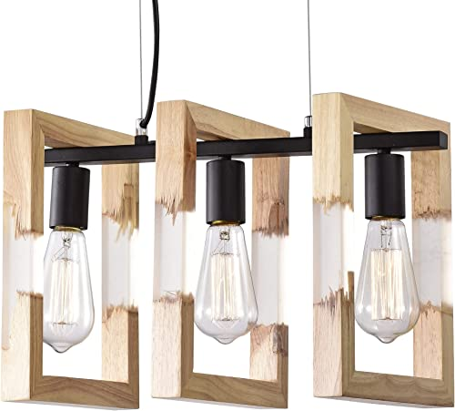 Island Lights Wood Chandelier Modern Farmhouse Chandelier Lighting