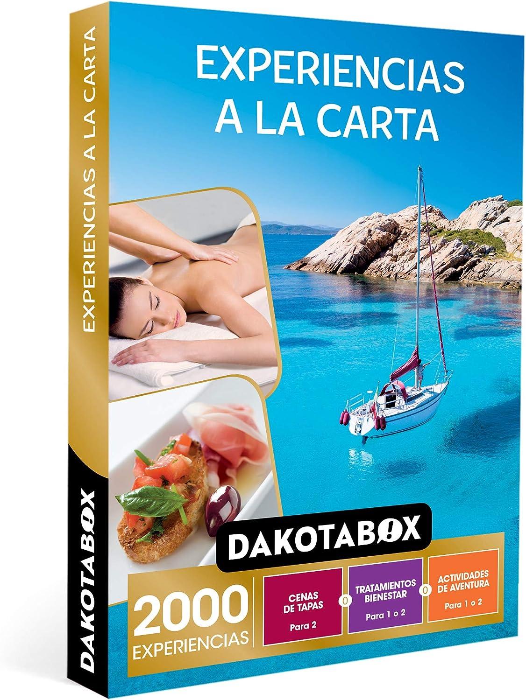 Caja Regalo hombre mujer pareja idea de regalo cenas de tapas y actividades de aventura 2000 experiencias como tratamientos de bienestar Experiencias a la carta DAKOTABOX