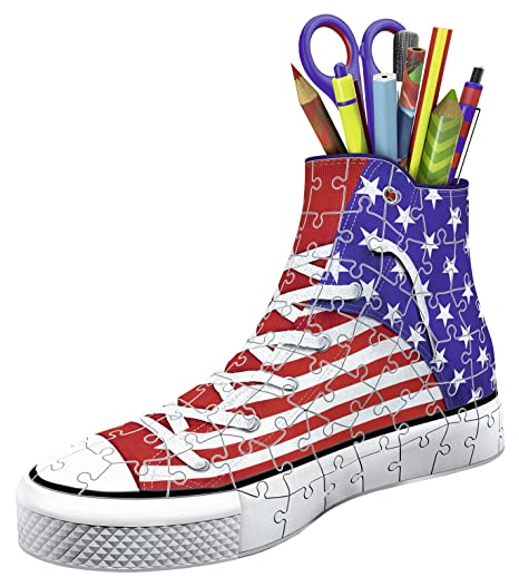 e565676a022 Amazon.com  Ravensburger Sneaker American Style 108 Piece 3D Jigsaw Puzzle  for Kids and Adults - Easy Click Technology Means Pieces Fit Together  Perfectly  ...
